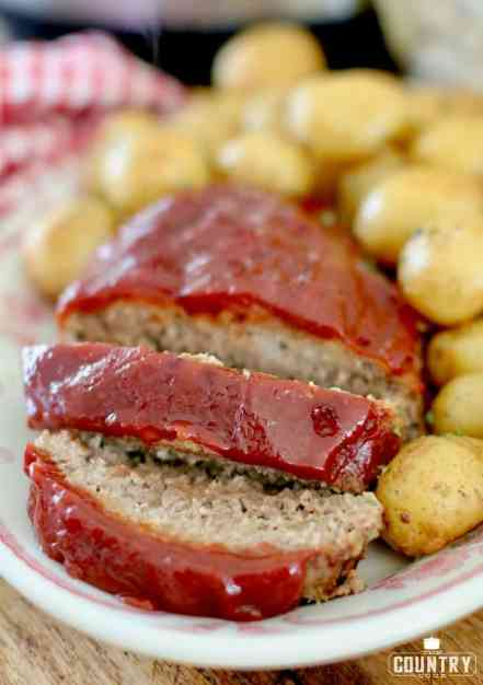 Pressure Cooker Meatloaf and Little Potatoes