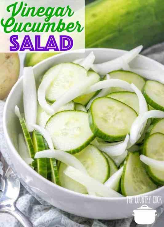 Mom's Vinegar and Onion Cucumber Salad recipe