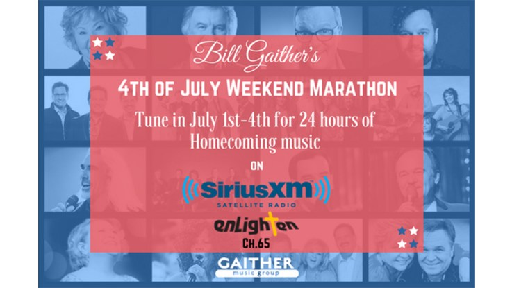 sirius xm to partner with gaither music group for a 4th of july homecoming holiday weekend marathon on the enlighten channel 65 - What Channel Is Christmas Music On Sirius Xm