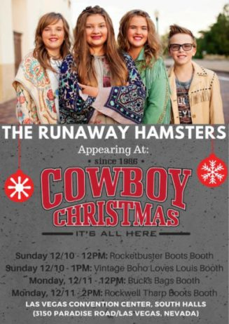 effervescent young country sibling group the runaway hamsters heads to the nfr national finals rodeo cowboy christmas show in las vegas sunday - Country Christmas Las Vegas