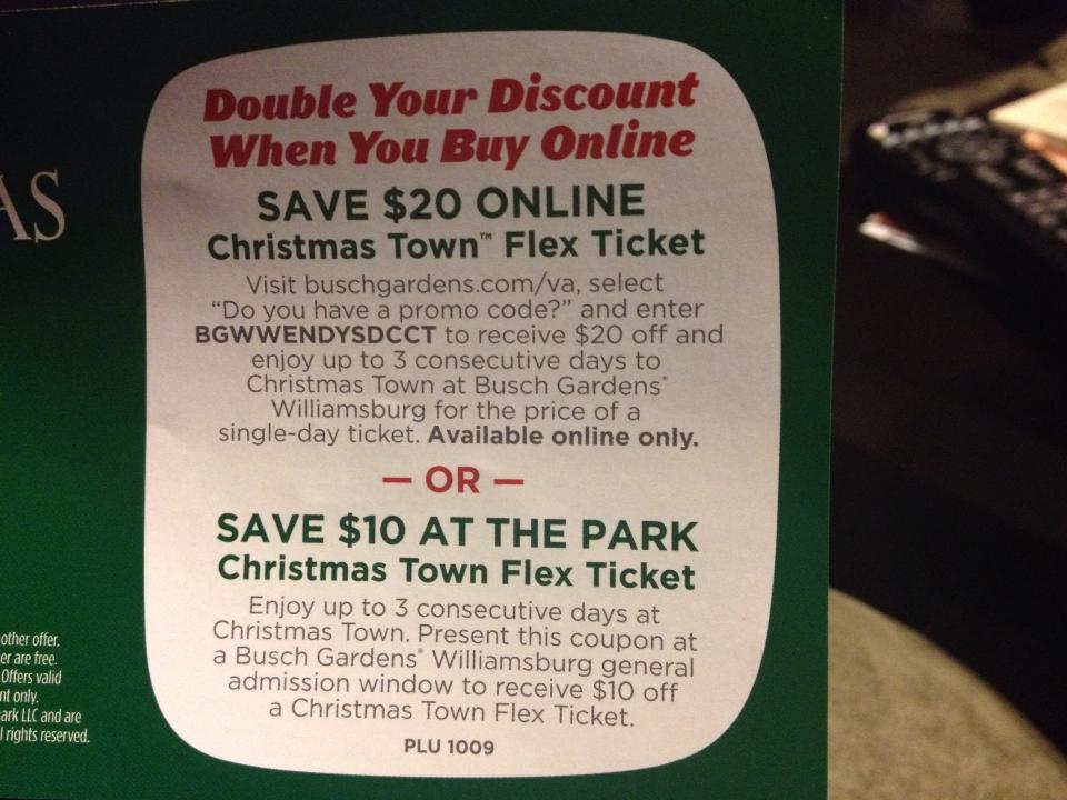 Good Busch Gardens Williamsburg Promo Code Fun Card Garden Ftempo Nice Design