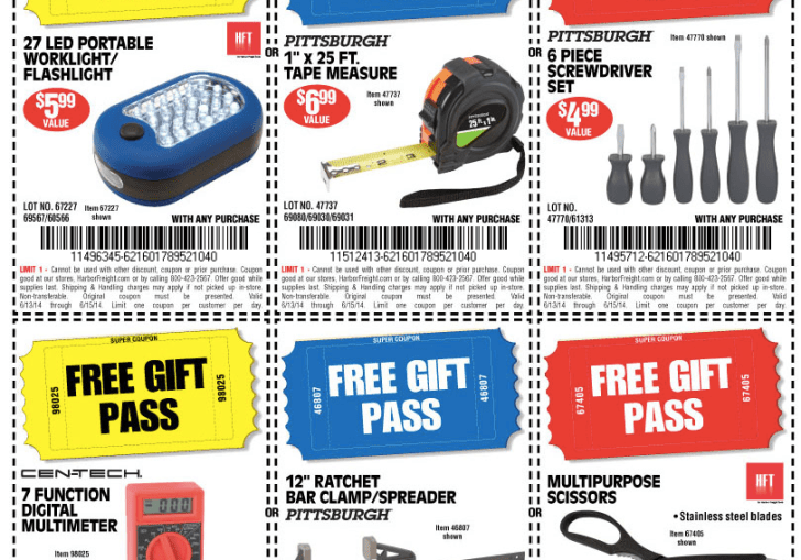 Harbor Freight Free Coupon