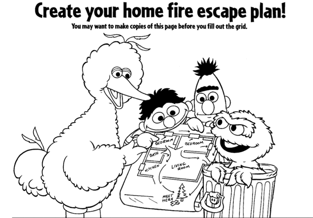 FREE Sesame Street Fire Safety Station Color Book!