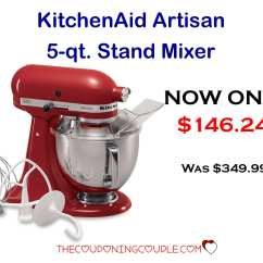 Kitchen Aid Coupons Commercial Sink Faucet Kitchenaid Artisan 5 Quart Mixer Only 146 24 Down From