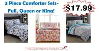 3 Piece Bed In A Bag Comforter Sets in F, Q or K for Only ...