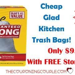 Glad Kitchen Trash Bags Corner Cabinet Shelf 100 For 9 49 With Free Store
