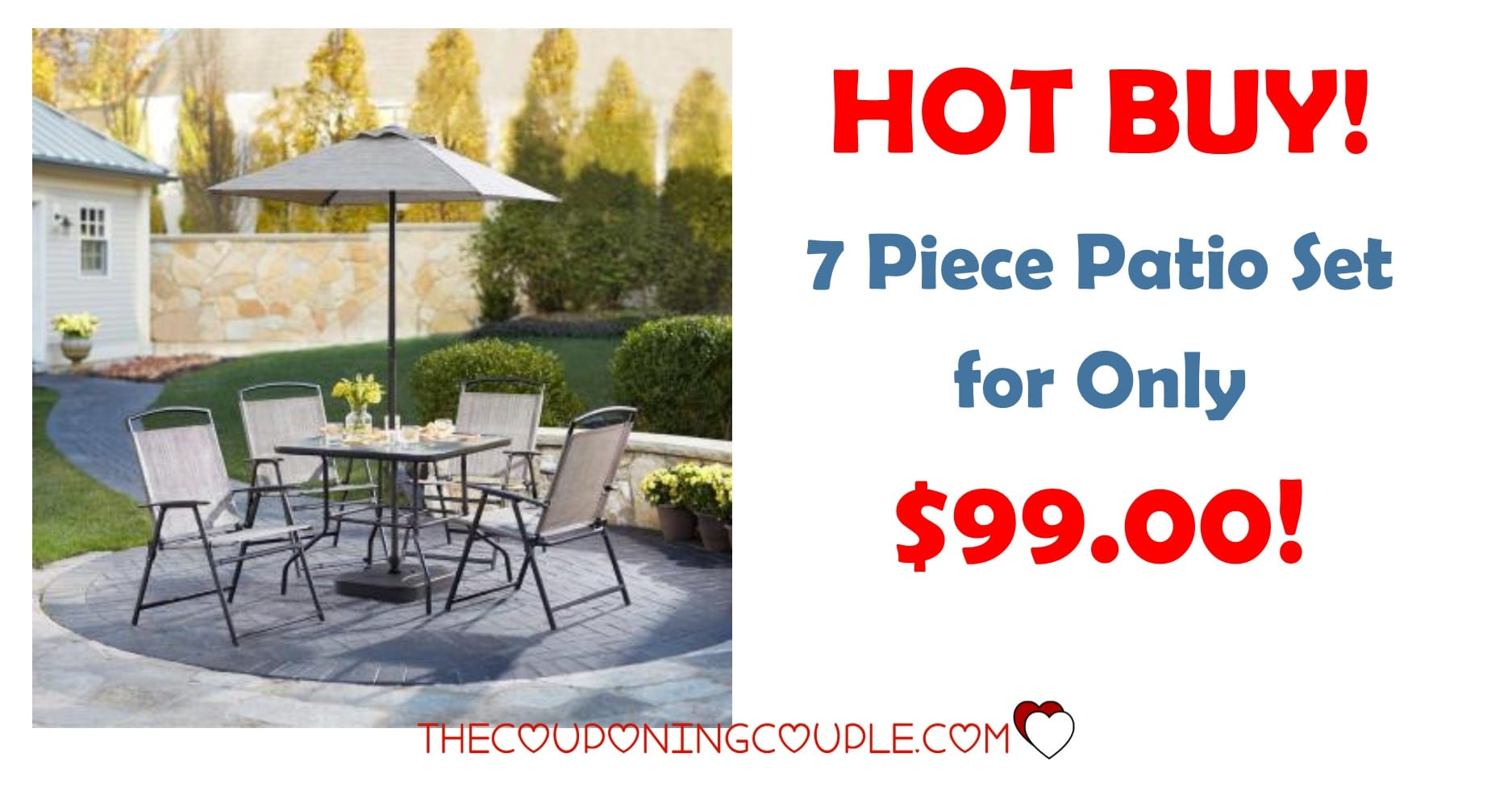 hot 7 piece patio set for only 99
