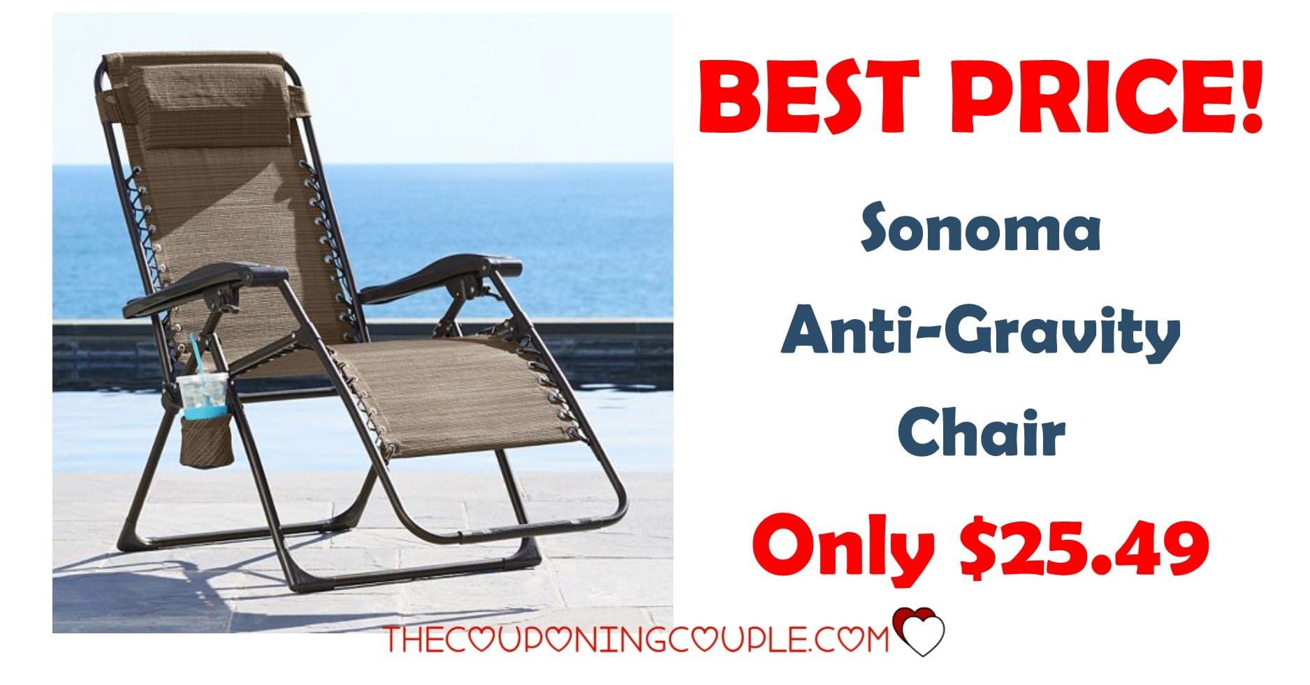 Sonoma AntiGravity Chair  Only 2549 Free Store Pickup