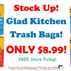 Glad Kitchen Trash Bags Chairs On Rollers Only 8 99 Free Store Pickup Too