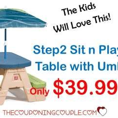 Step2 Table And Chairs With Umbrella Wing Recliner Chair Sit N Play Picnic Only 39 99