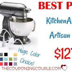 Kitchen Aid Coupons Door Hinges Hot Kitchenaid Artisan 5qt Stand Mixer Only 127 99