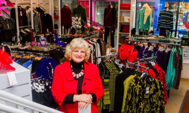 Owner Ceri Grassick back in the shop.