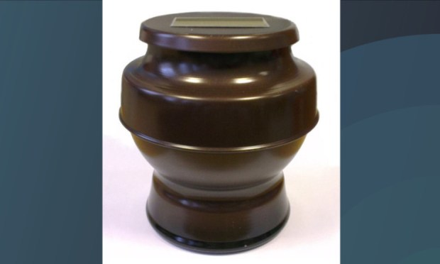 The urn was found near the railway line at Camperdown junction.