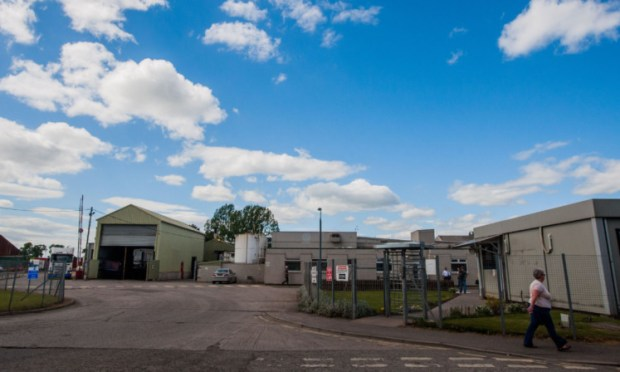 The former Vion chicken-processing plant at Coupar Angus. Owners 2 Sisters plunged into the red, but a spokesman said the current moves to consolidate its production estate did not affect sites in Scotland.