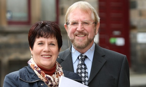 Kris Miller, Courier, 09/09/11. Picture today shows Linda and Vic Ross outside their solicitors with a copy of the Judgement of the Employment Tribunal.