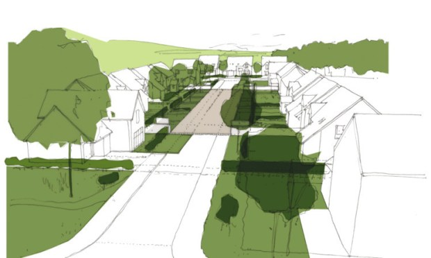 An impression of the possible appearance of a Springfield street at South Gray, subject to public consultation and planning permission.