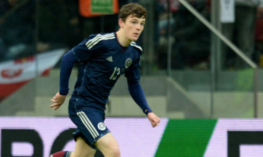 Andrew Robertson looked at home in his full Scotland debut.