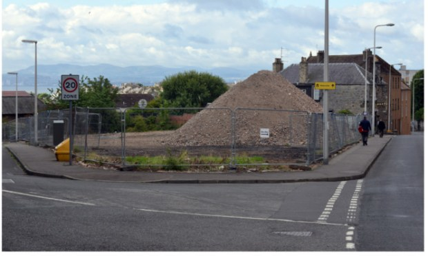 The former Caberfeidh care home site at the corner of Bruce Street and Ladyburn Place where council flats are proposed to be built.