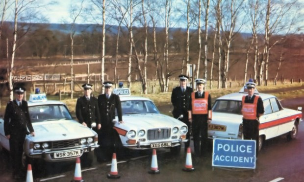 Tayside Police has launched a new 'online museum' on Facebook, showing images dating back decades. This one shows traffic officers in 1974. To see more visit the page at www.facebook.com/TaysidePoliceMuseum