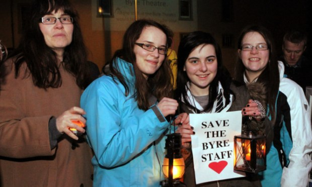 Some of those at last night's vigil.