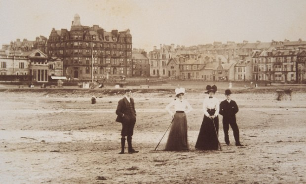 A fascinating new book of early photographs brings 19th and 20th century Scotland to life. Here is a small selection from The Scots  A Photohistory, by Murray Mackinnon and Richard Oram, and published by Thames & Hudson. Find out more at www.thamesandhudson.com. This image shows golf at St Andrews around 1900.