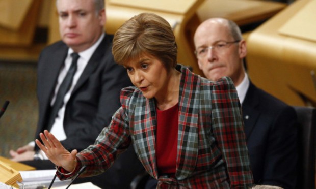 First Minister Nicola Sturgeon answers questions.