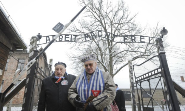 Services have been held across Europe as the victims of the Holocaust are remembered 70 years after the liberation of Auschwitz. Survivors gather at the Auschwitz concentration camp in Oswiecim, Poland.