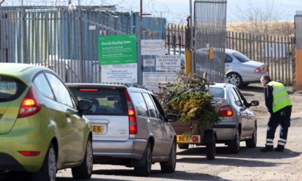 The Riverside recycling centre was dealing with queues of cars after rules changed, meaning it can only accept certain types of refuse.