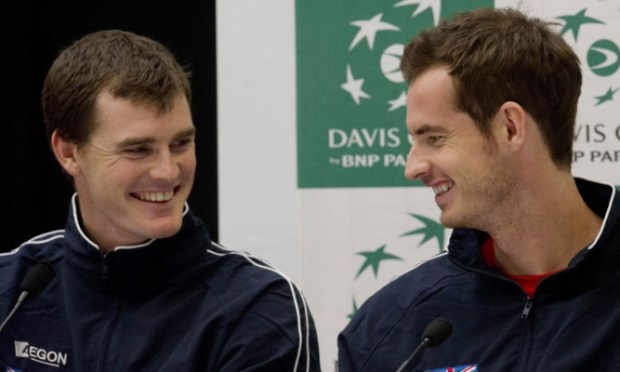 The Murray brothers in Glasgow earlier this week.