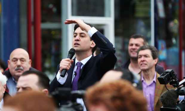 Ed Milibandin Chorley on Monday.