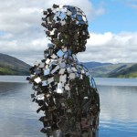 Loch Earn's Mirror Man standing still once again