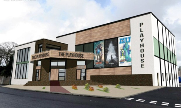 An architects graphic of how the new Montrose Playhouse cinema will look.