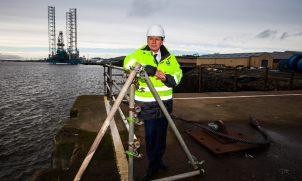 Charles Hammond, chief executive of Forth Ports, which has announced a major investment in Dundees Port. He, along with Jenny, is calling for the Scottish Government to get more involved in securing jobs in the city.