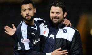 Paul Hartley with the star striker he has lost.