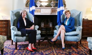 Prime Minister Theresa May meets with First Minister Nicola Sturgeon at Bute House on Friday