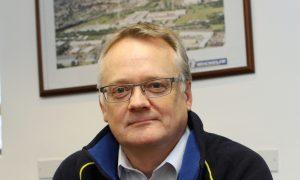 Factory manager John Reid.