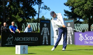 Paul Eales during his final round 68 that brought him a comeback win in the Prostate Cancer UK Scottish Seniors Open.