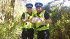 PC Barry Smith and PC Gary Chrystal placing one of the geocaches