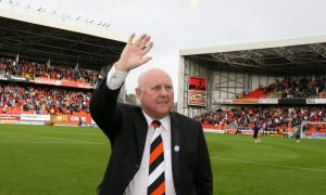 Former United manager Jim McLean, opens the Jim McLean Fair Play Stand, at Tannadice.