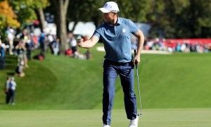 Danny Willett holed a couple of birdie putts in the afternoon, but the Masters champion couldn't get a point.