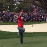 Video: Ryder Cup heckler sinks winning putt