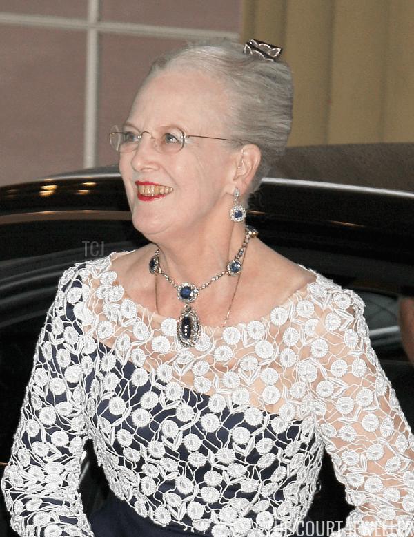 Queen Margrethe wearing her sapphires