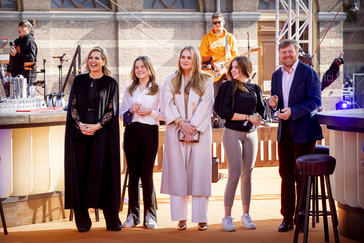 The Dutch royal family on King's Day, 2021