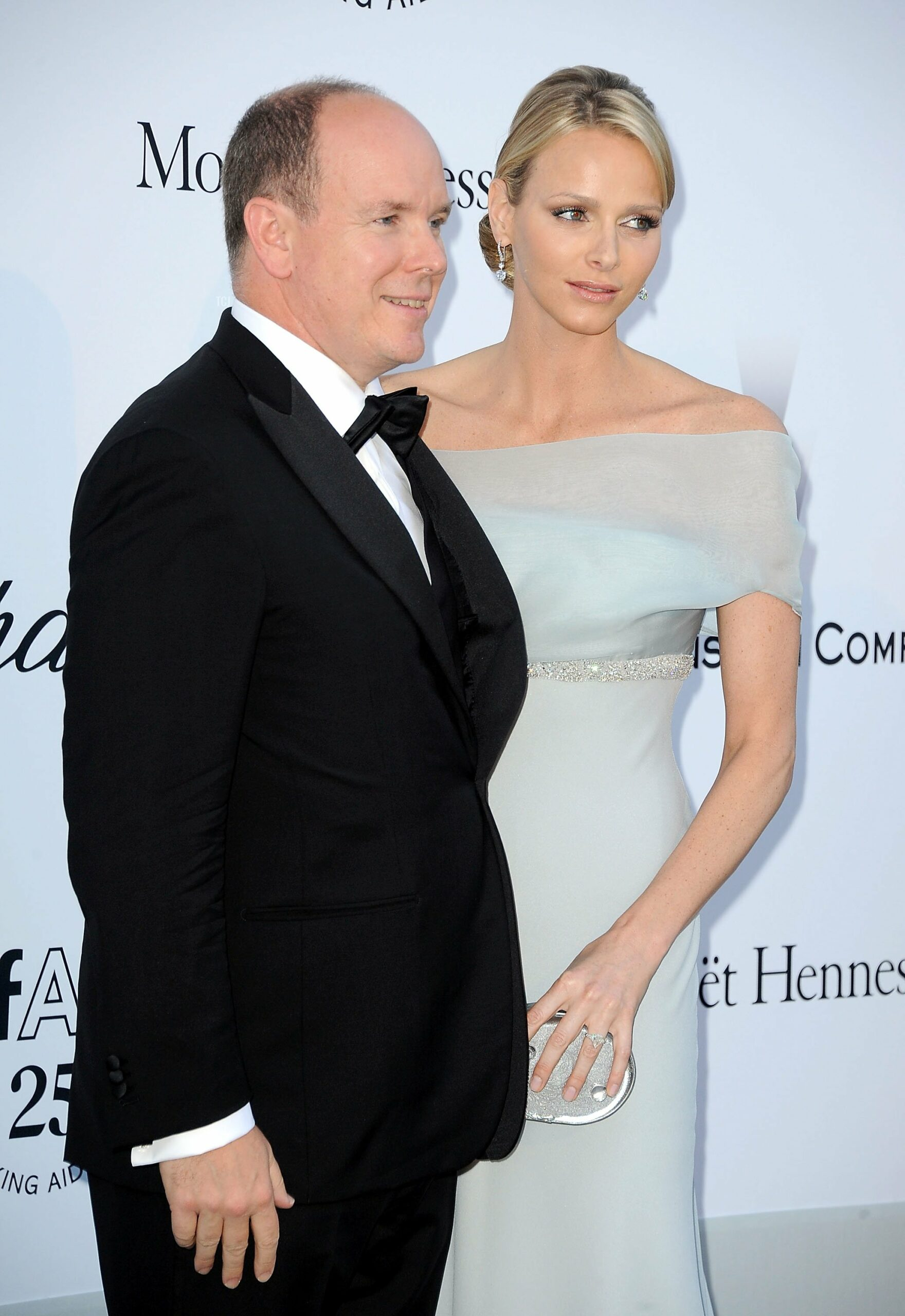 Charlene Wittstock and Prince Albert II of Monaco attend amfAR's Cinema Against AIDS Gala during the 64th Annual Cannes Film Festival at Hotel Du Cap on May 19, 2011 in Antibes