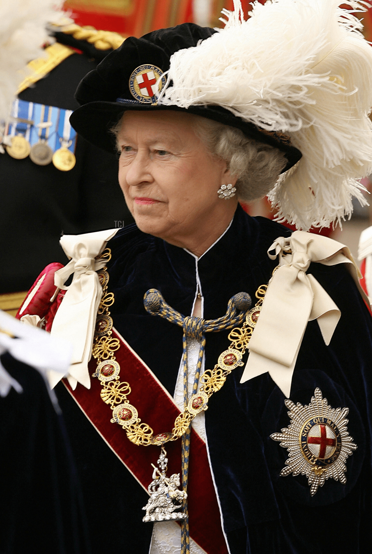"""Britain's Queen Elizabeth II takes part in """"The Procession and Installation Service"""" of The Most Noble Order of the Garter at Windsor Castle, 19 June 2006"""