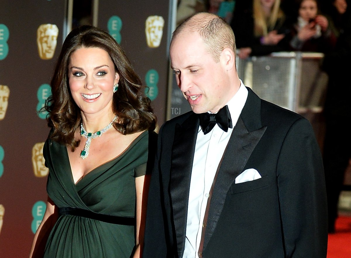 Prince William, Duke of Cambridge and Catherine, Duchess of Cambridge attend the EE British Academy Film Awards (BAFTA) held at Royal Albert Hall on February 18, 2018 in London, England