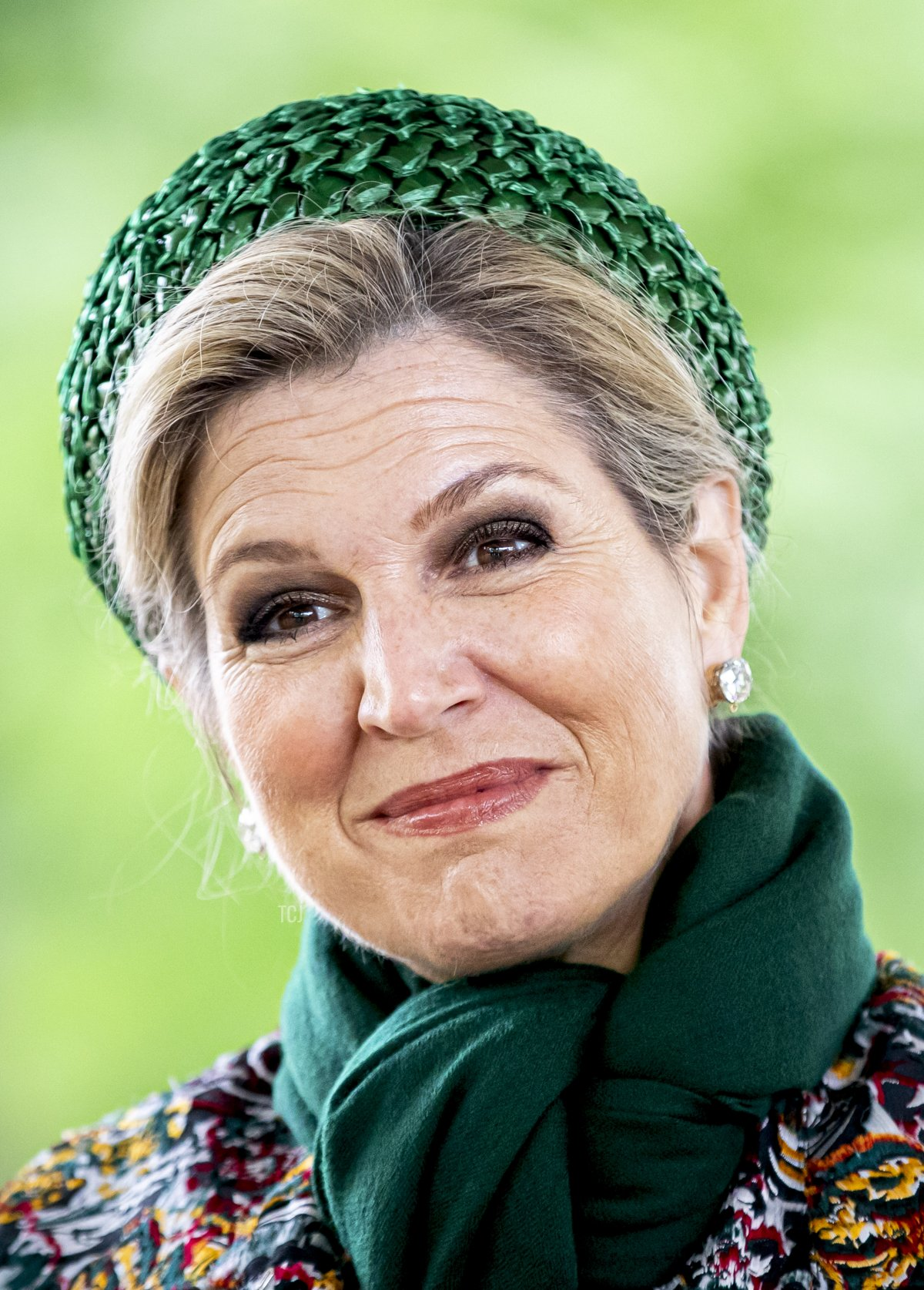 Queen Maxima of The Netherlands visits the Passiespelen in open air theater De Doolhof during their region visit to North-Limburg on May 27, 2021 in Venlo, Netherlands