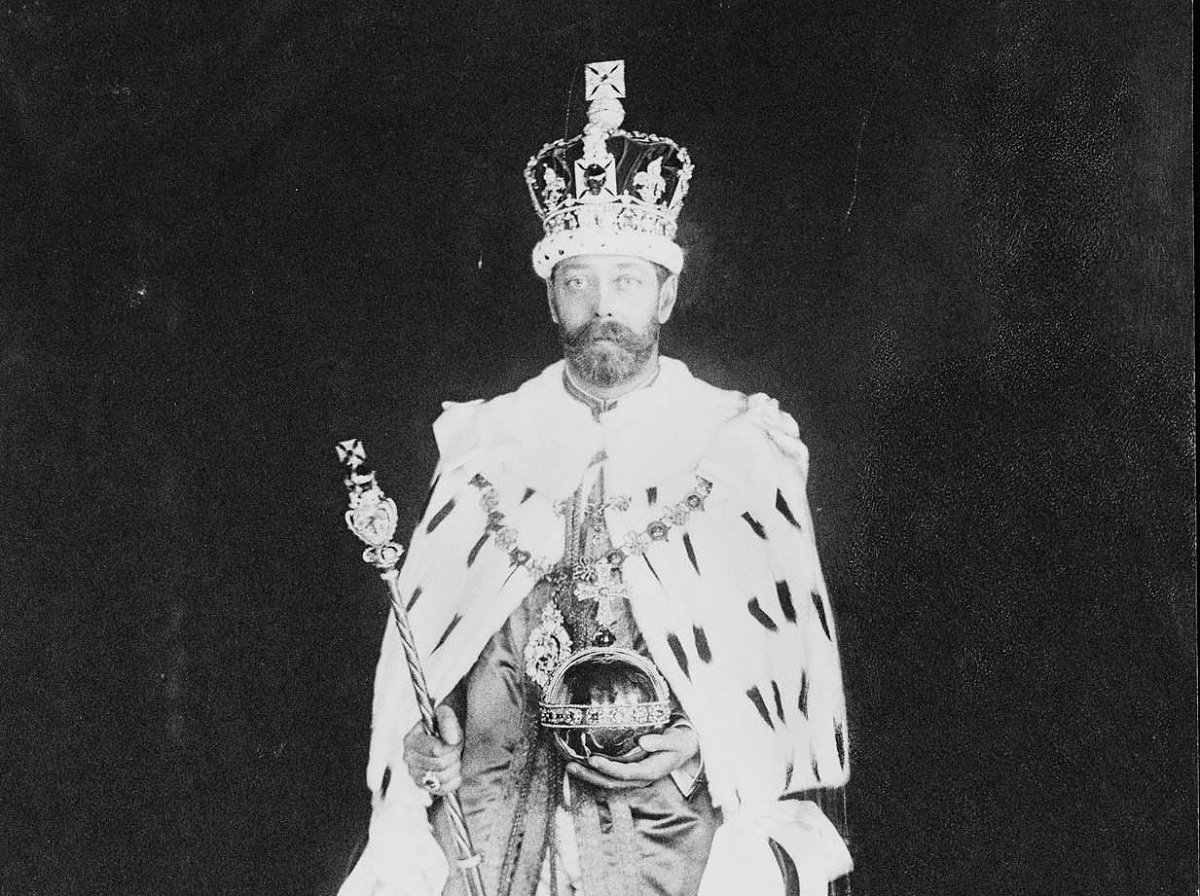 King George V in his coronation robes, 1911