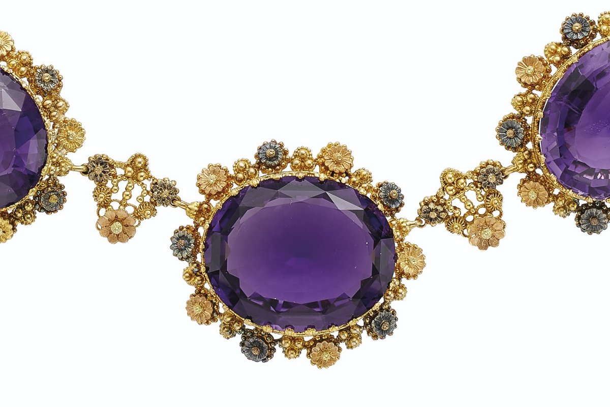 Antique Suite of Amethyst Jewelry