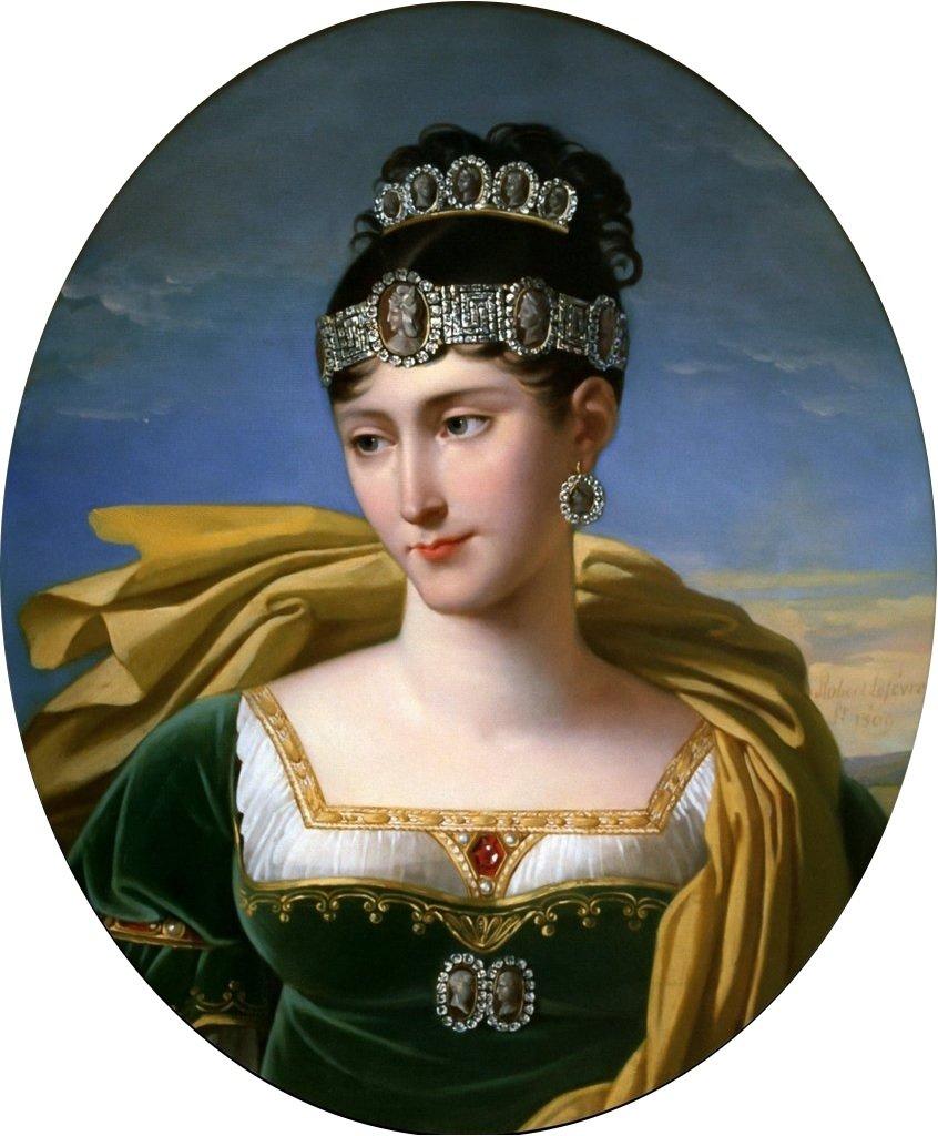 Robert Lefèvre's portrait of Pauline Bonaparte, ca. 1803